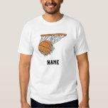 boule de woosh de basket-ball dans l'illustration t-shirts