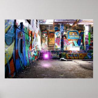 Boule d'énergie de graffiti poster