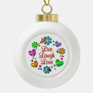 Boule En Céramique Amour vivant de rire d'amusement