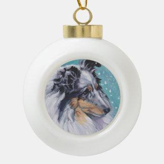 Boule En Céramique Beaux beaux-arts de chien de berger de Sheltie