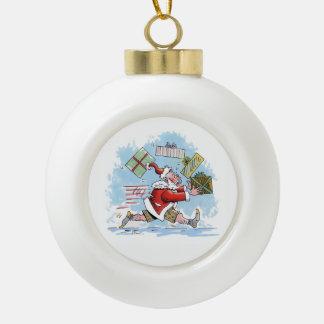 Boule En Céramique Boule non préparée de Noël de Père Noël