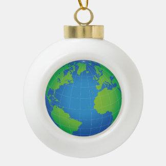 Boule En Céramique Carte de globe du monde