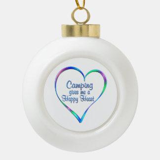 Boule En Céramique Coeur heureux campant