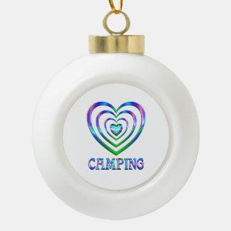 Boule En Céramique Coeurs de camping