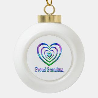Boule En Céramique Coeurs fiers de grand-maman