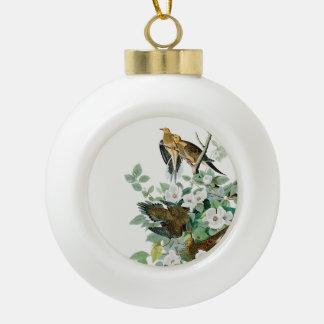 Boule En Céramique Colombe de tortue de la Caroline, oiseaux de