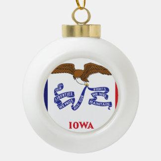 Boule En Céramique Conception de drapeau de l'IOWA -