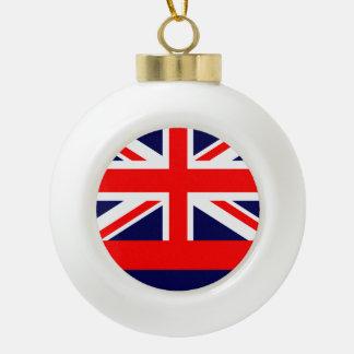 Boule En Céramique Conception de drapeau d'HAWAÏ -