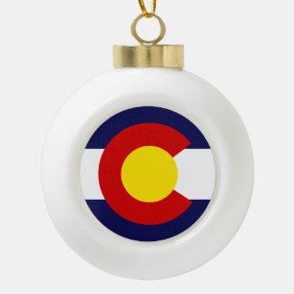 Boule En Céramique Conception de drapeau du COLORADO -