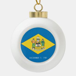 Boule En Céramique Conception de drapeau du DELAWARE -