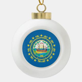 Boule En Céramique Conception de drapeau du NEW HAMPSHIRE -