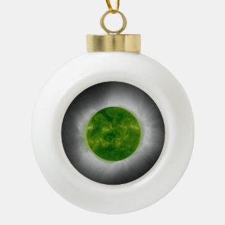 Boule En Céramique Couronne totale de vert d'éclipse solaire
