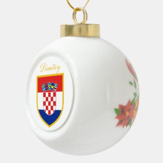Boule En Céramique Drapeau de la Croatie personnalisé