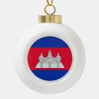 Boule En Céramique Drapeau du Cambodge