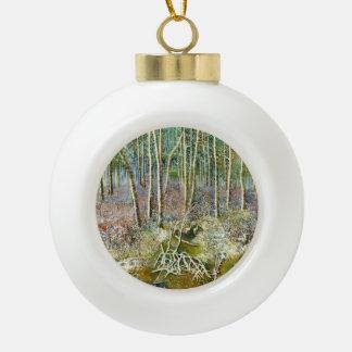 Boule En Céramique forêt d'hiver