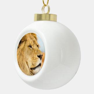 Boule En Céramique Grand lion regardant loin
