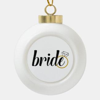 Boule En Céramique Jeune mariée aux vacances de Be/Bride