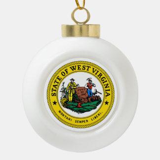 Boule En Céramique Joint d'état de la Virginie Occidentale -