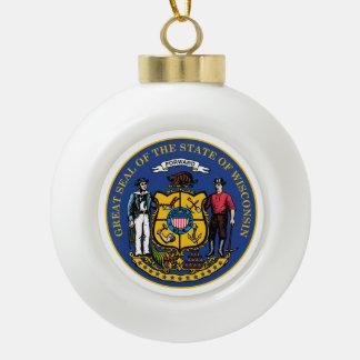 Boule En Céramique Joint d'état du Wisconsin -