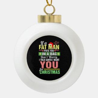 Boule En Céramique Joyeux Noël et père noël