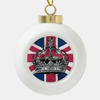 Boule En Céramique Jubilé de diamant de reine d'Angleterre de drapeau