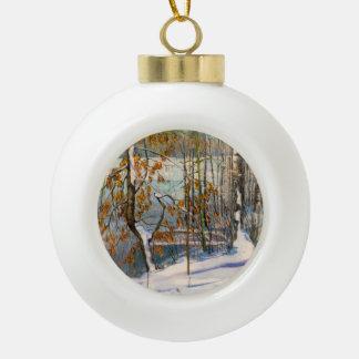 Boule En Céramique La neige est tombée