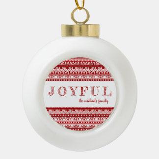 Boule En Céramique Le motif rustique de vacances joyeux avec ajoutent