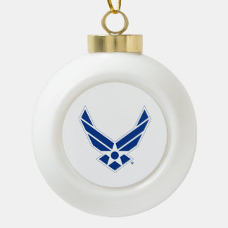 Boule En Céramique Logo d'armée de l'air des États-Unis - Bleu