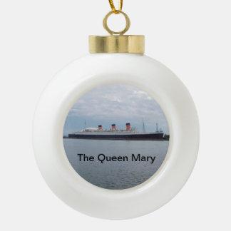 Boule En Céramique L'ornement de Noël de Queen Mary