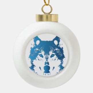 Boule En Céramique Loup de bleu glacier d'illustration