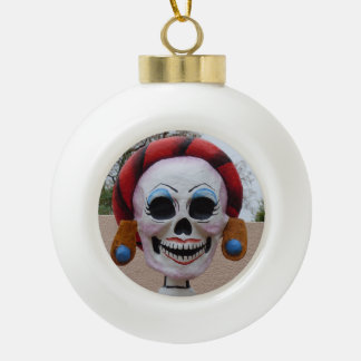 Boule En Céramique Madame Skull Halloween Decoration