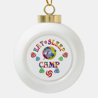 Boule En Céramique Mangez le camp de sommeil