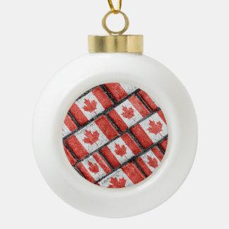 Boule En Céramique Motif canadien de motif de drapeau