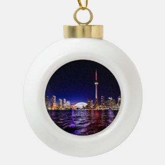 Boule En Céramique Paysage urbain du centre de Toronto Canada la nuit