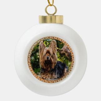 Boule En Céramique Terrier brun et noir de Yorkshire adorable