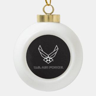 Boule En Céramique U.S. Logo de l'Armée de l'Air - noir