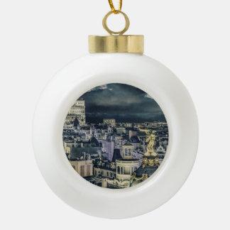 Boule En Céramique Vue aérienne de scène de nuit de paysage urbain de