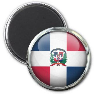 Boule en verre de drapeau de la République Magnet Rond 8 Cm