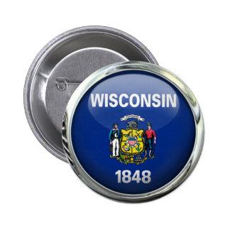 Boule en verre ronde de drapeau d'état du badges
