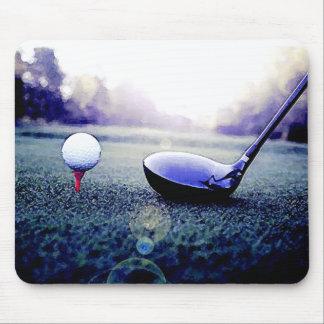 Boule et batte de golf tapis de souris