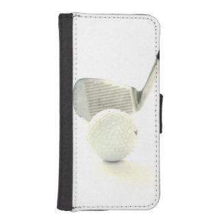Boule et club de golf coque avec portefeuille pour iPhone 5