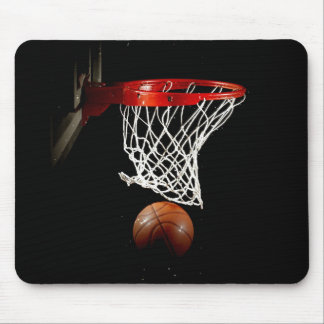 Boule et filet de basket-ball tapis de souris
