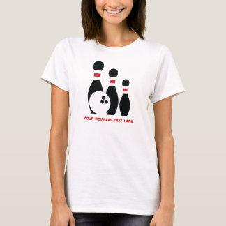 Boule et goupilles de bowling faites sur commande t-shirt