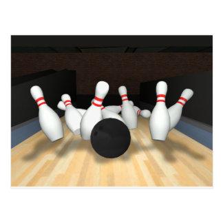 Boule et goupilles de bowling : modèle 3D : Carte Postale
