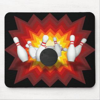 Boule et goupilles de bowling modèle 3D Mousep Tapis De Souris