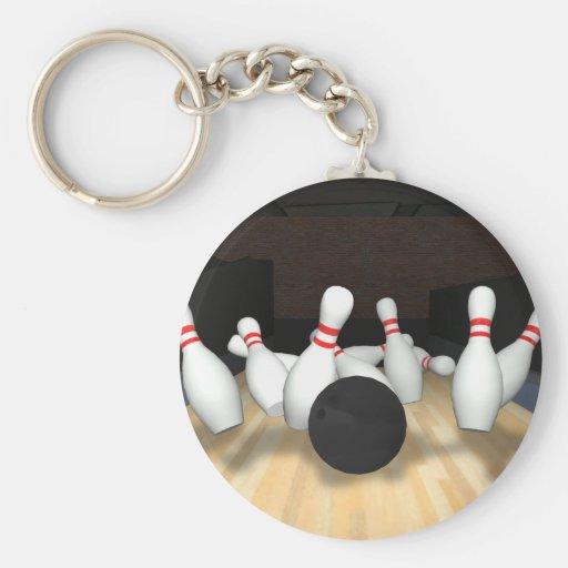 Boule et goupilles de bowling : modèle 3D : Porte-clef