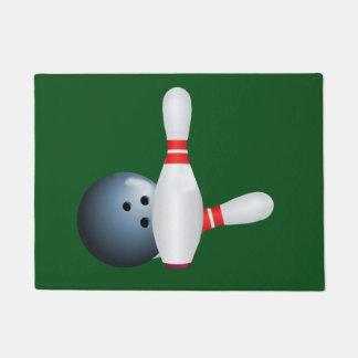 Boule et goupilles de bowling, personnalisables paillasson