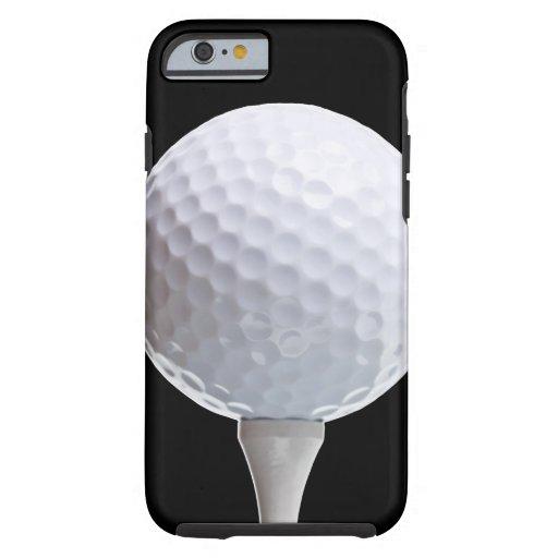 Boule et pièce en t de golf sur Noir customisé Coque iPhone 6 Tough