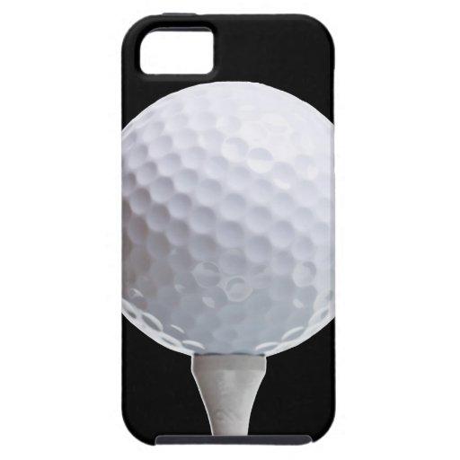 Boule et pièce en t de golf sur Noir customisé Coque iPhone 5