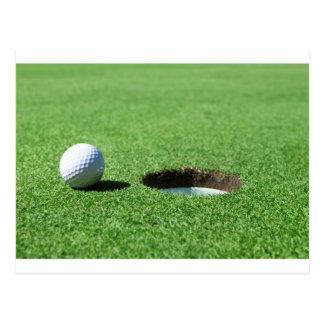 Boule et trou de golf cartes postales